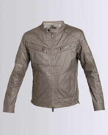 Smith & Jones Archivolt Mens Biker Jacket Grey