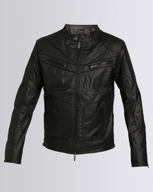 Smith & Jones Archivolt Mens Biker Jacket Black