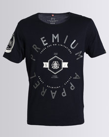 Smith & Jones Kinetic Mens Crew T-Shirt Navy