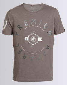 Smith & Jones Kinetic Mens Crew T-Shirt Grey