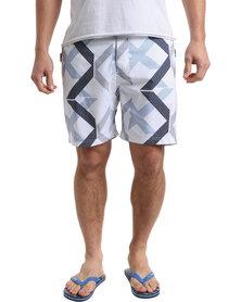 Smith & Jones Mens Diffraction Swimshort White
