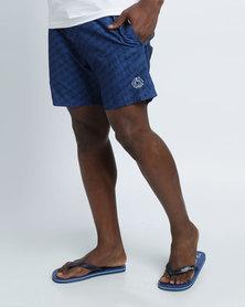 Smith & Jones Baryon Swimshorts & Flip Flops Blue