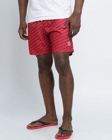 Smith & Jones Baryon Swimshorts & Flip Flops Red
