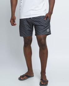 Smith & Jones Baryon Swimshorts & Flip Flops Black