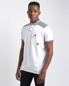 Smith & Jones Menstan Polo T-Shirt White