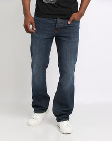 Smith & Jones Enrico Bootleg Jeans Dark Blue Wash