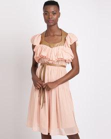 Sober Athea Midi Dress Nude
