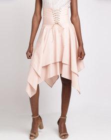 Sober High-Waisted Corset Skirt Pearl