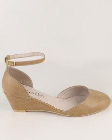 Solle Low Wedge Shoe Beige