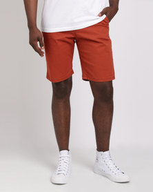 Soviet M Marshall Stretch Cotton Shorts Brick