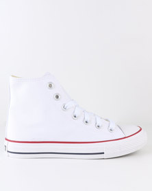 Soviet Viper Hi Casual Lace Up High Top Canvas Sneaker White