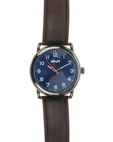 Soviet Gents Leather Strap Gift Set Watch Bronze