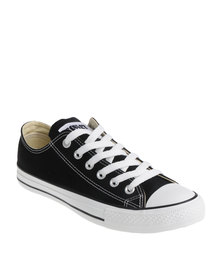 Soviet Viper Casual Low Cut Lace Up Canvas Sneaker Black