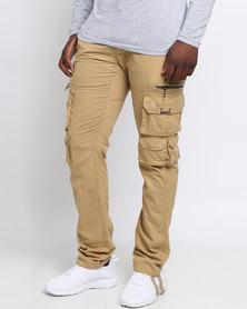 Soviet Mens Glock Fashion Cargo Pants Khaki