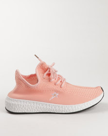 Soviet Ivana Casual Low Cut Lace Up Sneakers White/Pink