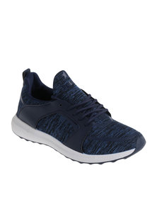Soviet Coventry Casual Low Cut Lace Up Sneaker Navy