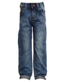 Soviet Apparel District Skinny Leg Jeans Blue