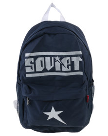 Soviet Medium Nylon Backpack Navy and White