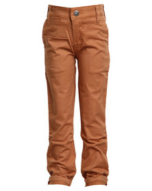 Soviet Apparel Falcons Slim Leg Fashion Chinos Brown