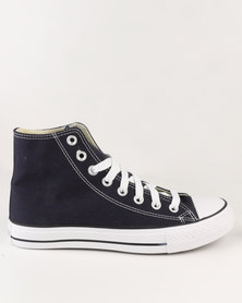 Soviet Viper Hi Casual High Top Lace Up Canvas Sneaker Navy
