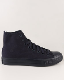 Soviet Viper Hi Casual High Top Lace Up Canvas Sneaker Navy Mono