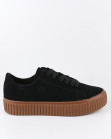 Soviet Kenz Low Cut Lace Up Sneaker Black