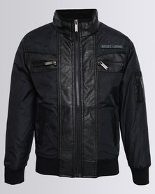 Soviet Boys Victor PU Jacket Black