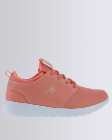 Soviet Brooklyn Casual Lace Up Low Cut Sneakers Coral