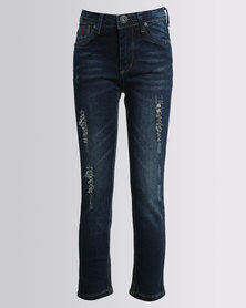 Soviet Boys Norman Skinny Jeans Blue Black