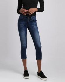 Soviet Athena Capri Jeans Indigo