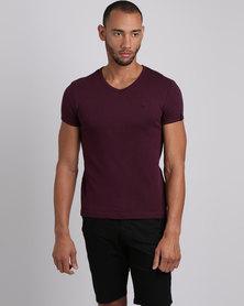 Soviet Bolt Evo Short Sleeve Interlock T-Shirt Bordeaux