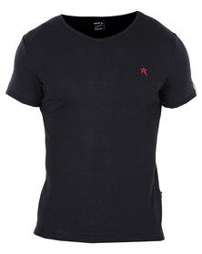 Soviet Bolt Short Sleeve Basic T-shirt Black