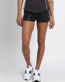 Soviet Larisa Fleece Shorts Black
