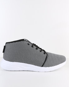 Soviet Rush Casual Mid Cut Knitted Sneaker Grey