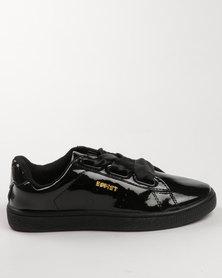 Soviet Bonnie Low Cut Pu Patent Sneaker Black Mono
