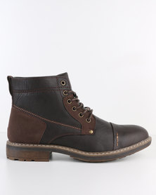 Soviet Cavan Formal Leather Lace-Up Ankle Boot Choc