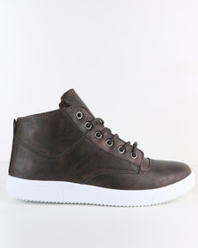 Soviet Bray Casual Lace-Up Ankle Boot Choc