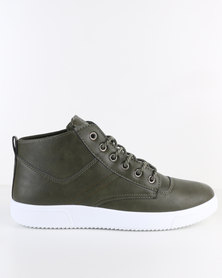 Soviet Bray Casual Lace-Up Ankle Boot Olive