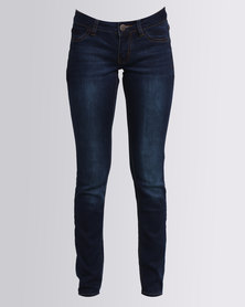 Soviet Harvey Jolt Skinny Jeans Dark Blue