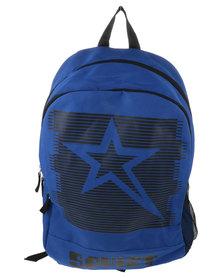 Soviet Large Vikings Nylon Sketch Backpack Blue