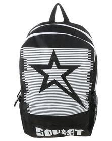 Soviet Large Vikings Nylon Trimmed Backpack Black