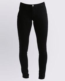 Soviet Dewdrops Skinny Jeans Black