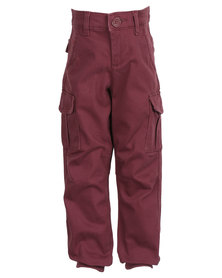 Soviet Paddington Cuffed Pants Maroon