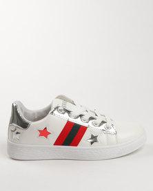 Soviet Electra Low Cut Metallic Sneaker White