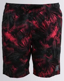 Speedo Beachburst Printed Lsre 18 Watershorts Red