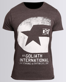 St. Goliath R&D Tee Charcoal Marle