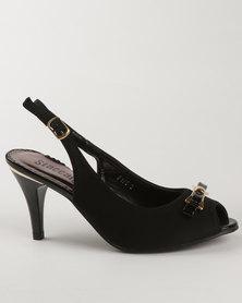 Staccato Slingback Heels Black