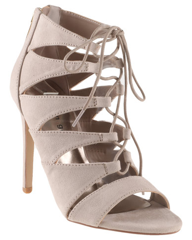 Steve Madden Raceyy Lace Up Gladiator Vamp High Heel Sandals