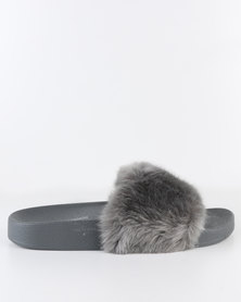 Steve Madden Softey Slides Grey
