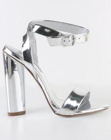 Steve Madden Treasure Block Heels Silver